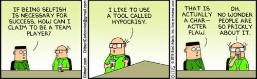 Dilbert 17.10.15 via Stuff.co.nz[dilbert.com Scott Adams] Necessary selfishness