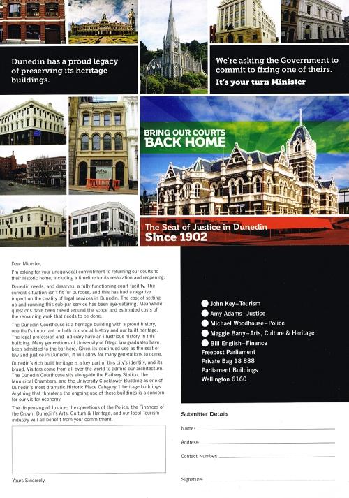 Dunedin Courthouse postcard 1