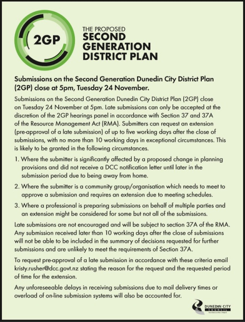 DCC Public Notice 2GP extensions 19.11.15