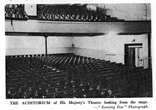 His Majesty's Theatre. Auditorium, looking from stage. [via Unknown, Cinemas - Dunedin and districts, 1897-1974 (Dunedin, 1974) p12