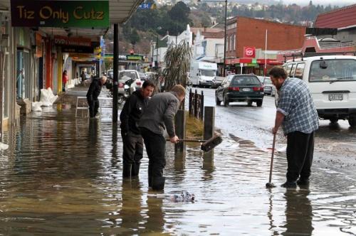 King Edward St - South Dunedin Flood June 2015 [Stuff.co.nz]
