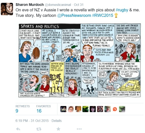 Sharon Murdoch (@domesticanimal) 31.10.15 Sports and Politics