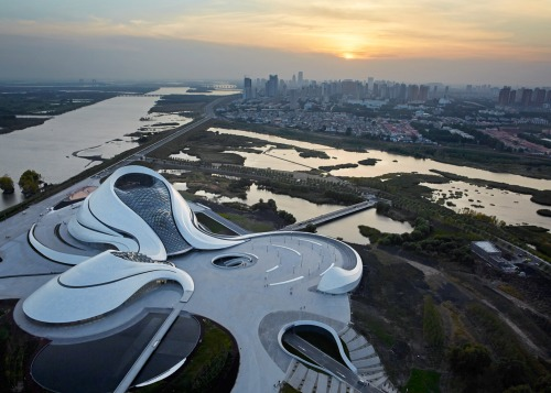 Harbin Opera House by MAD Architects_Beijing - aerial 1 [photo Hufton + Crow]