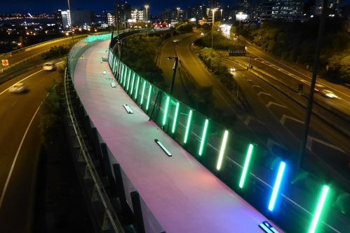 Light Path Nelson-St-at-Night-Brett-Green [transportblog.co.nz]