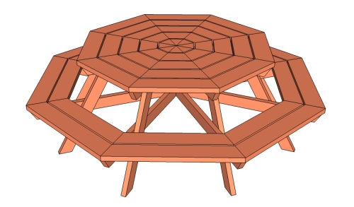 Octagon picnic table [ana-white.com] 1