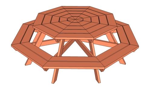 Octagon picnic table [ana-white.com] 1