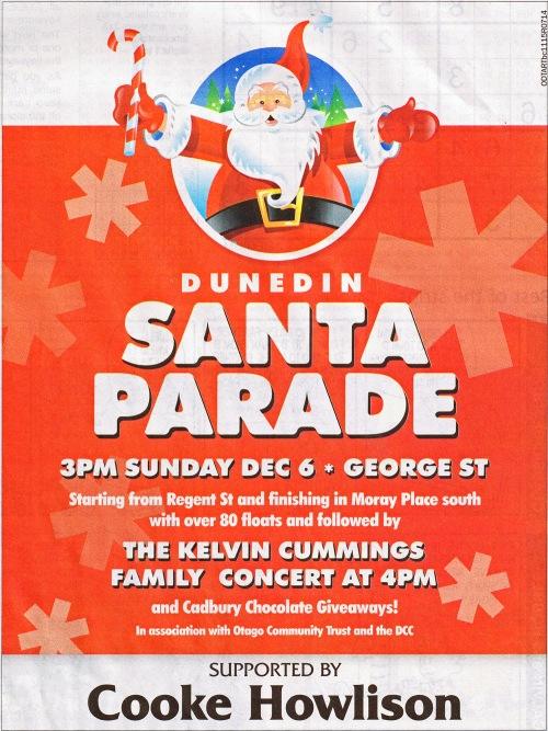 ODT 4.12.15 Advt Dunedin Santa Parade p13 (1)