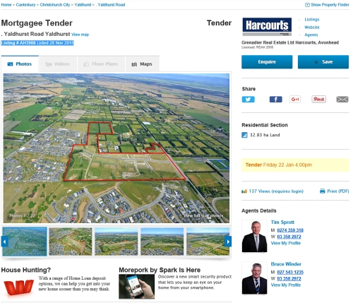 Yaldhurst Village Mortgagee Tender [realestate.co.nz - Harcourts]