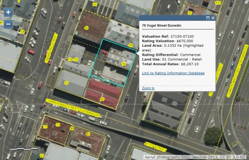 DCC Webmap - 76 Vogel Street, Dunedin [VSK]