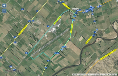 DCC Webmap - Dunedin International Airport 25 Miller Rd, Momona