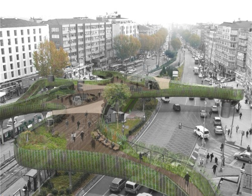 LEA Invent with Burcak Pekin - winner, Pedestrian Footbridge Design Competition in Fatih Vatan Street, Istanbul (2011)