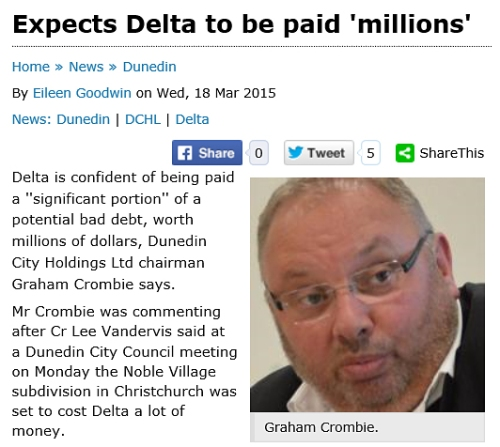 ODT 18.3.15 Expects Delta to be paid 'millions' [odt.co.nz] screenshot