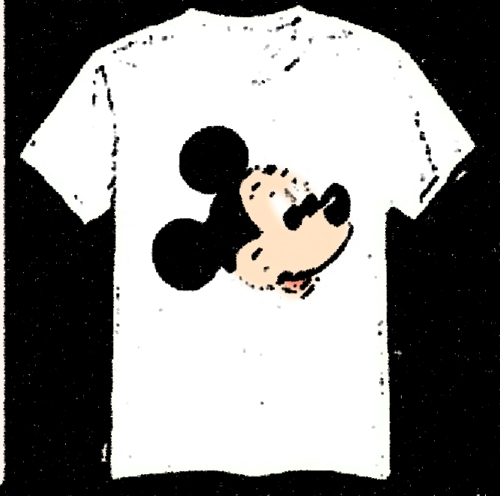 white tshirt mickey mouse [aliexpress.com] tweaked by whatifdunedin