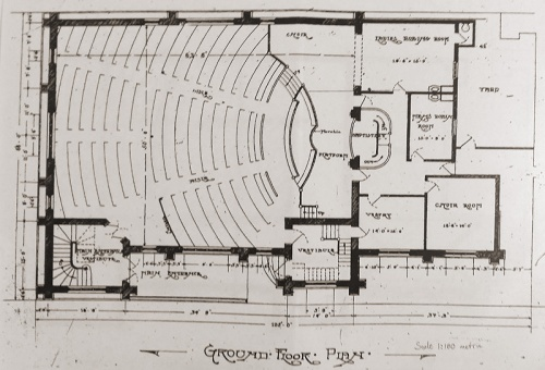 Hanover Street Baptist Church - floor plan 20160227_152629