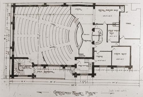 Hanover Street Baptist Church - floor plan 20160227_152629