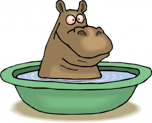 hippo bathing-cartoon [tophdimg.com]