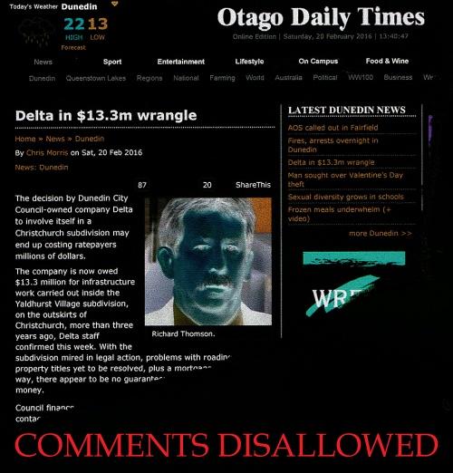 ODT Online 20.2.16 - Delta in $13.3 wrangle 1