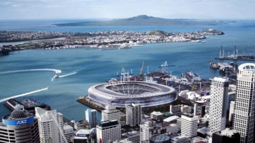 Auckland 2006 proposed waterfront stadium [David White - Fairfax via Stuff.co.nz]