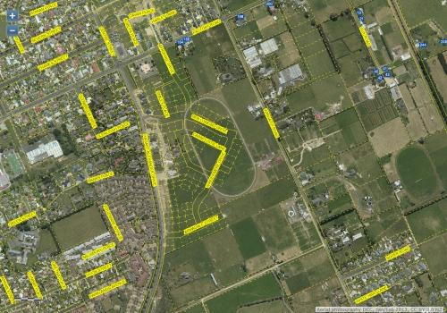 DCC Webmap - Highland Park Subdivision, Mosgiel JanFeb2013