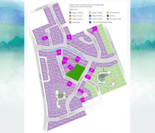 Highland Park Subdivision Mosgiel - Sections for sale