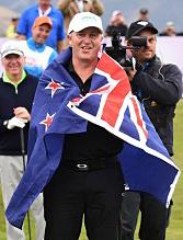 John Key golf NZ flag [Andrew Cornaga www.photosport.nz via Stuff.co.nz] detail