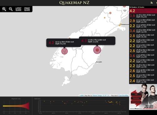 QuakeMap NZ 28.3.16 at 9.22 am (tweaked)