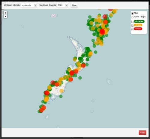 Quakes statistics 1500 moderate -reading 15.3.16[geonet.co.nz]