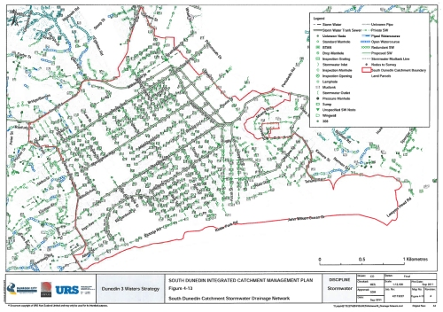South Dunedin Catchment Stormwater Drainage Network Fig 4-13 SDICM Plan