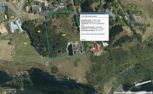 DCC Webmap - Cargills Castle, 111D Cliffs Road, Dunedin JanFeb2013
