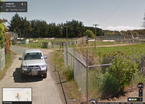 Google Street View - 80 Carlyle Road, Mosgiel Nov 2012 [DCC utility vehicle pictured - closeup]