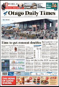 ODT 18.4.16 front page small [allied.press.co.nz] 1b