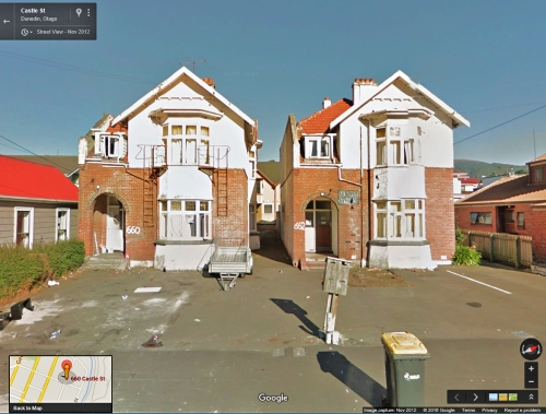 Google Street View (via Google Earth) - 660 Castle St, Dunedin Nov 2012
