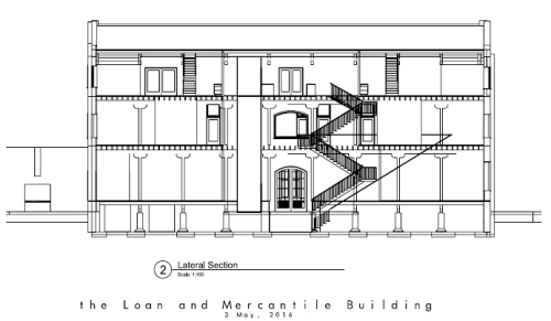 LM Building - lateral section