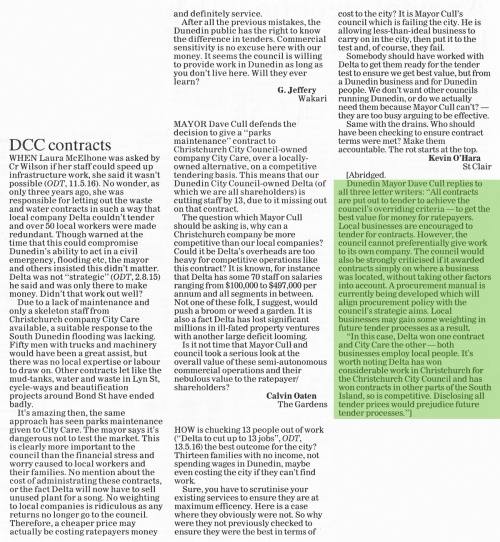 ODT 26.5.16 Letters to editor Jeffery Oaten O'Hara p25 (1)