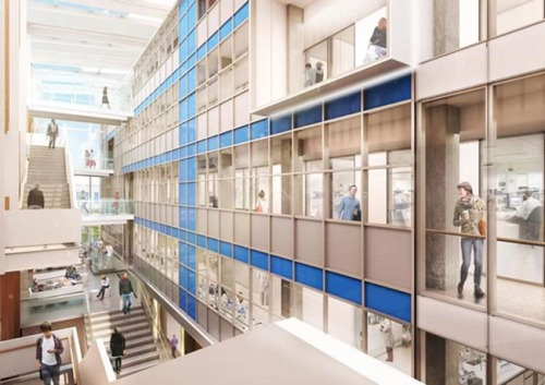 Artist's impression for new School of Dentistry (interior). Jasmax Architects