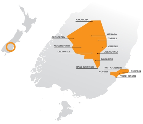 Aurora Energy Limited 2015 Annual Report 2 (distribution map)