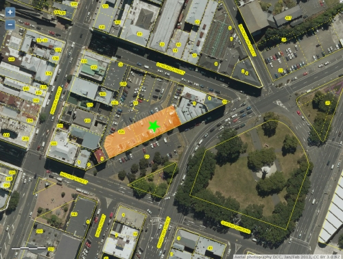 DCC Webmap - Dowling St carpark JanFeb2013 (ORC preferred site) 1