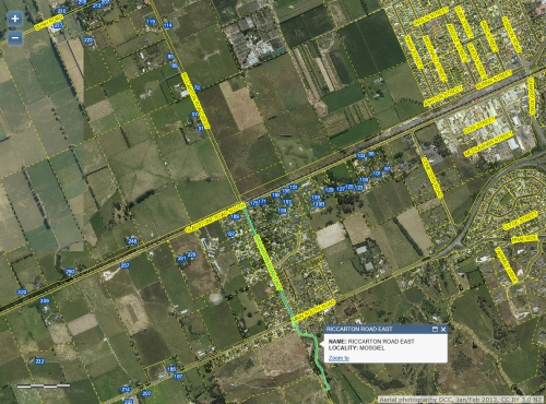 DCC Webmap - Riccarton Road East, Mosgiel JanFeb 2013