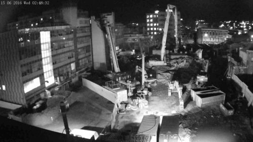 Image of Dental School from the time lapse camera