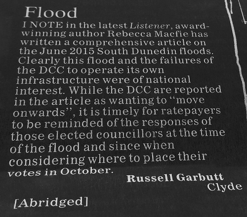 ODT 11.6.16 Letter to editor Garbutt p30 bw