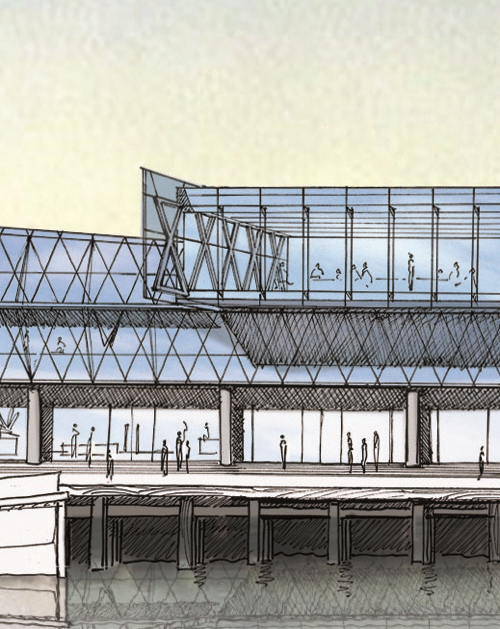 ORC offices proposed, Kitchener St - sketch render by Mason & Wales Architects (2009) 1