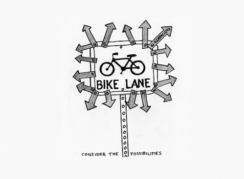 bike cartoon by bob lafay [glendalecycles.com]