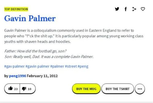 Gavin Palmer Untitled - Urban Dictionary