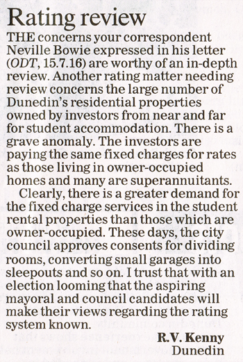 ODT 25.7.16 Letter to editor Kenny p8 (1)