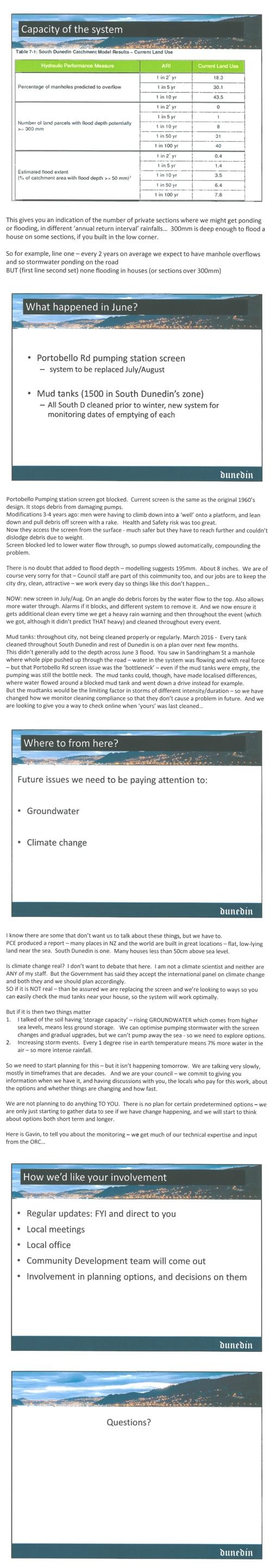 Sue Bidrose South Dunedin and stormwater June 20 2016 pp6-10