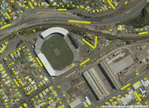 DCC Webmap - Carisbrook, South Dunedin JanFeb 2013