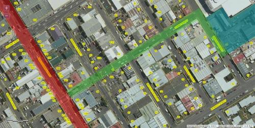 DCC Webmap - South Dunedin Hub area incl gasworks museum JanFeb2013
