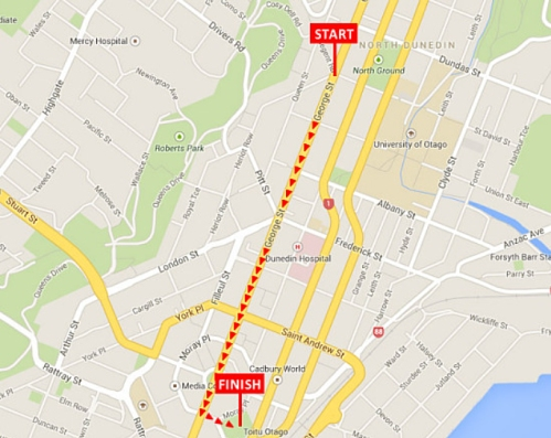 dunedin-santa-parade-2016-route-map