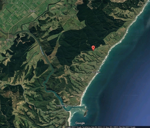 google-earth-taieri-mouth-rd-and-flagged-dickson-rd-otago